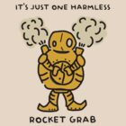 "Blitzcrank - ""IT'S JUST ONE HARMLESS ROCKET GRAB"" - BLACK TEXT/LIGHT SHIRTS by baconpiece"