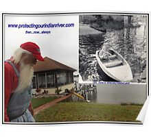 Protecting our Indian river then now always Poster
