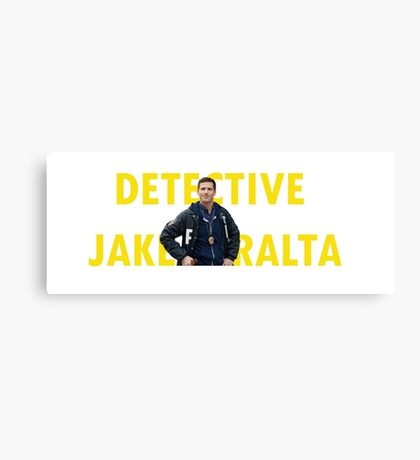 peralta trying to be serious w/words Canvas Print