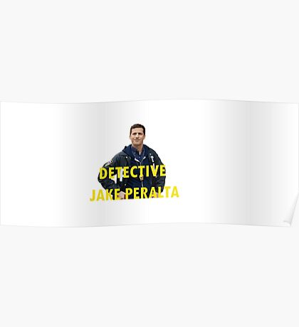 peralta trying to be serious w/words overlap Poster