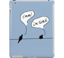 Two Birds on a Wire iPad Case/Skin