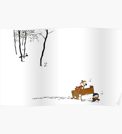 Calvin and Hobbes It's a Magical World Poster