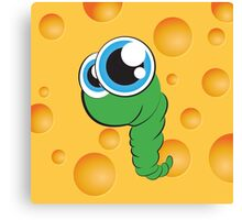The Cheese Worm  Canvas Print