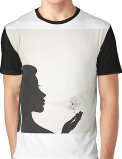 Girl and a dandelion2 Graphic T-Shirt