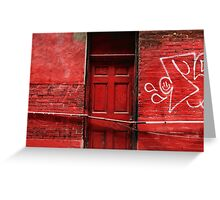 the red door bar Greeting Card