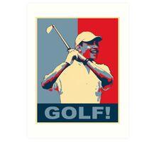 Golf! Hope Art Print