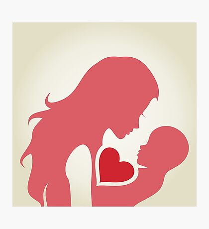 Mum and baby Photographic Print
