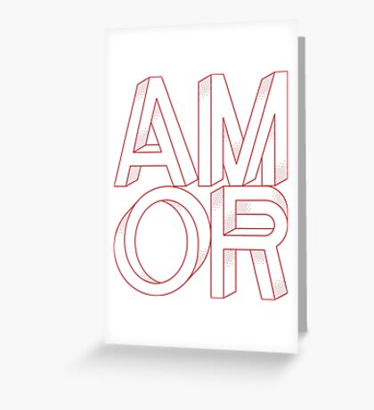 Abstract Shapes Amor Greeting Card