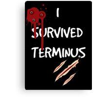 I survived terminus (Black version) Canvas Print
