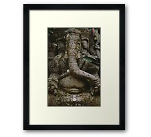 An elephant never forgets. Framed Print