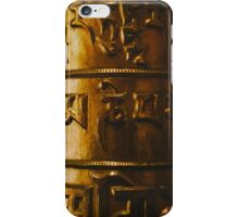 Golden prayer iPhone Case/Skin