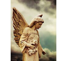 Guardian Angel in the Clouds Photographic Print