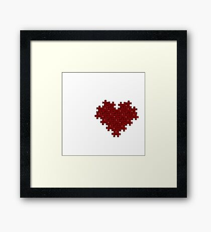 Puzzle Heart Framed Print