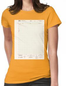 USGS TOPO Map California CA West of Willow Ranch 20120312 TM geo Womens Fitted T-Shirt