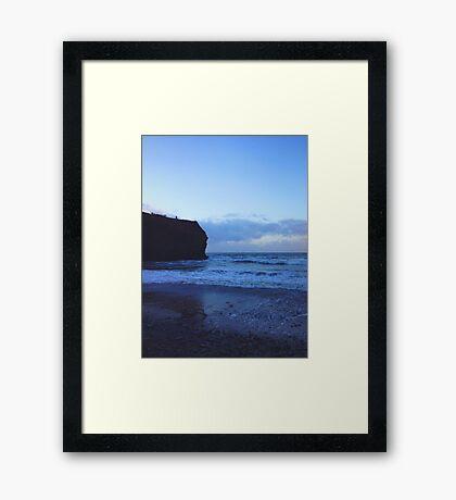 Dusk Beach Framed Print