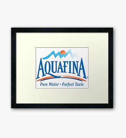 aquafina life i love it Framed Print