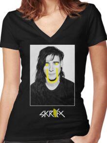 SKRILLEX Ü Women's Fitted V-Neck T-Shirt