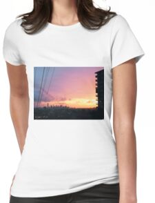 Sunrise. Womens Fitted T-Shirt