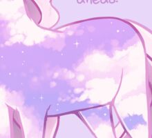 """""""These Painful Feelings Aren't Permanent"""" Starry Sky Pony Sticker"""