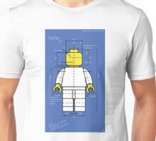 Lego Man Blue Print Unisex T-Shirt