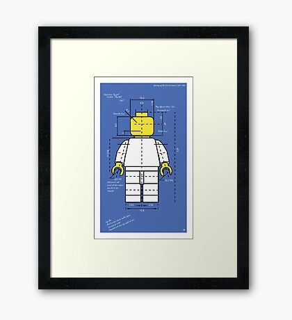Lego Man Blue Print Framed Print