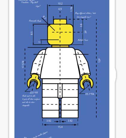 Lego Man Blue Print Sticker
