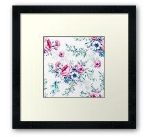 Watercolor vintage floral seamless pattern Framed Print