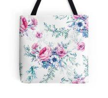 Watercolor vintage floral seamless pattern Tote Bag