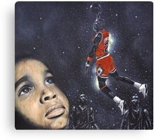 Michael Jordan Dreams Canvas Print