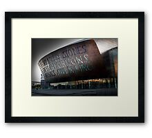 Wales Millennium Centre AKA Cardiff bay golden armadillo Framed Print