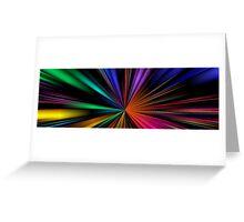 Warp Speed Panorama Greeting Card