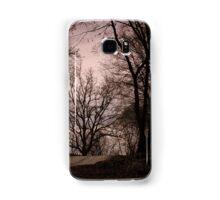 forest in winter Samsung Galaxy Case/Skin