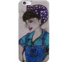 Roxy Riot Factory Worker iPhone Case/Skin