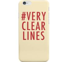 #Very Clear Lines iPhone Case/Skin