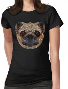 Pug Portrait Womens Fitted T-Shirt