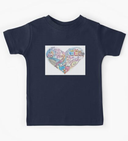 Love Makes a Family Kids Tee