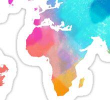 world map colorffull Sticker