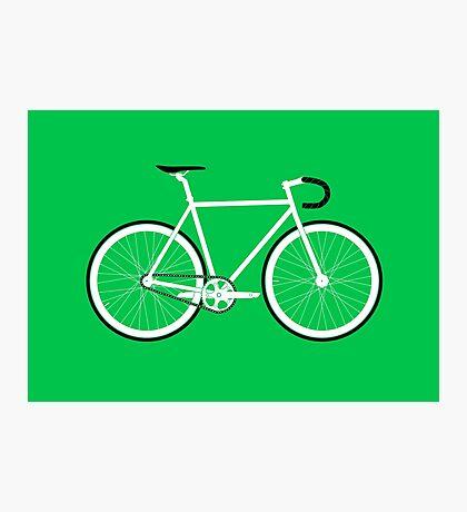 Green Fixed Gear Road Bike Photographic Print