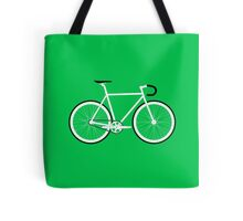 Green Fixed Gear Road Bike Tote Bag