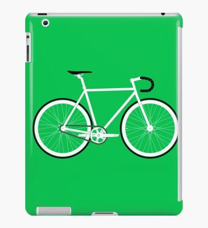 Green Fixed Gear Road Bike iPad Case/Skin