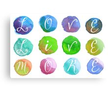Hand-Painted Watercolor Circles Colorful Rainbow Canvas Print