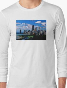 Chicago Oil Painting Long Sleeve T-Shirt