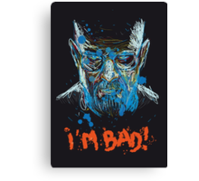 i'm bad Canvas Print