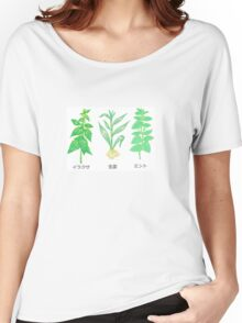 Plants with Japanese Labels Women's Relaxed Fit T-Shirt
