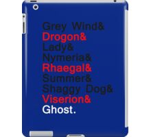 Direwolves and  Dragons iPad Case/Skin