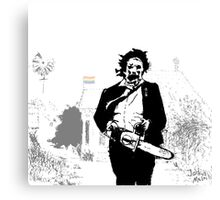 Leatherface defender of the queer Canvas Print