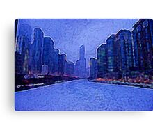 Chicago Oil Painting #2 Canvas Print