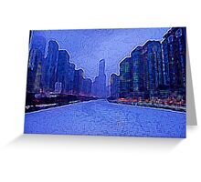 Chicago Oil Painting #2 Greeting Card