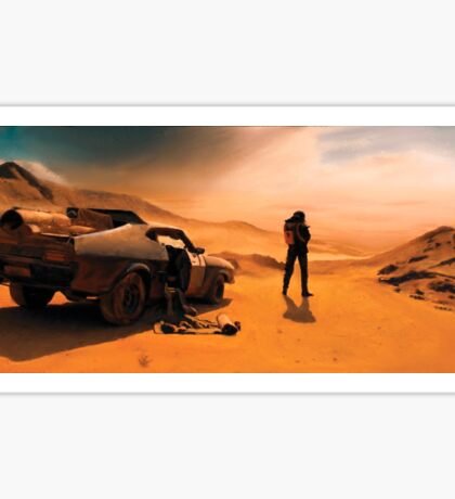 Mad Max: Fury Road Painted Fan Art Sticker