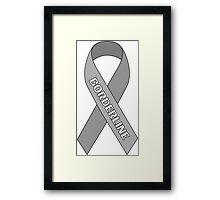Borderline Ribbon Framed Print